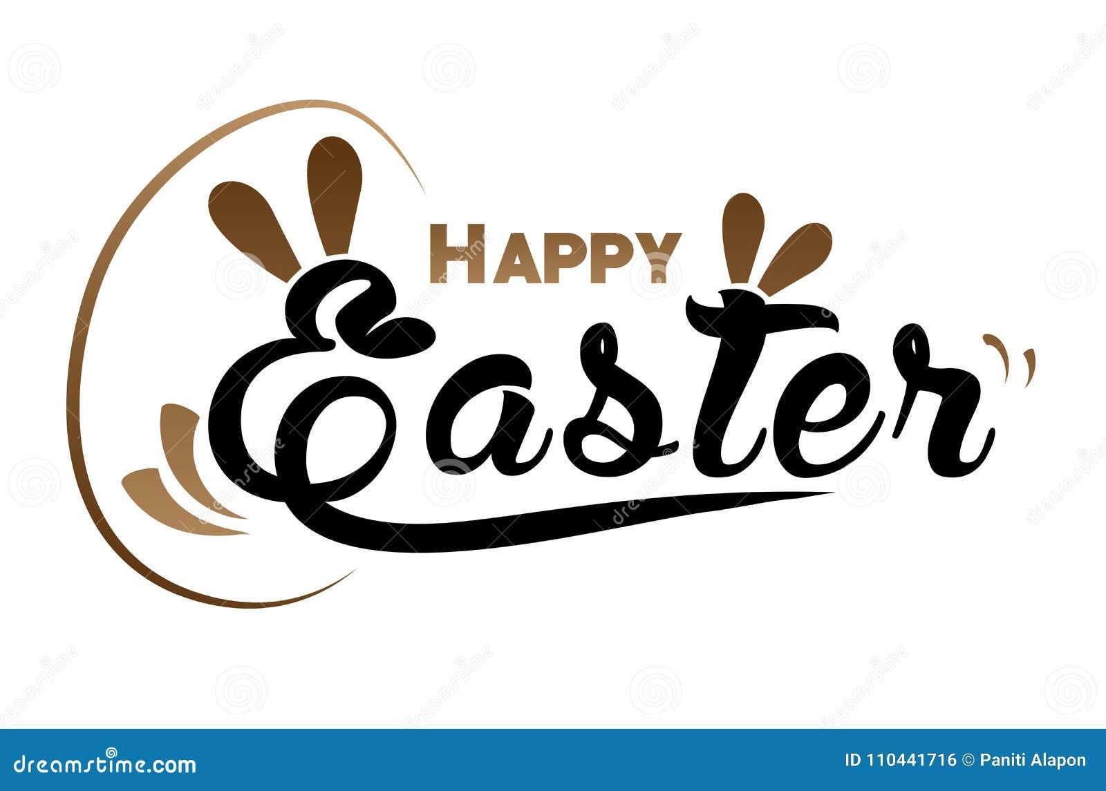 Páscoa, coelho e ovo muito felizes com fundo da cor