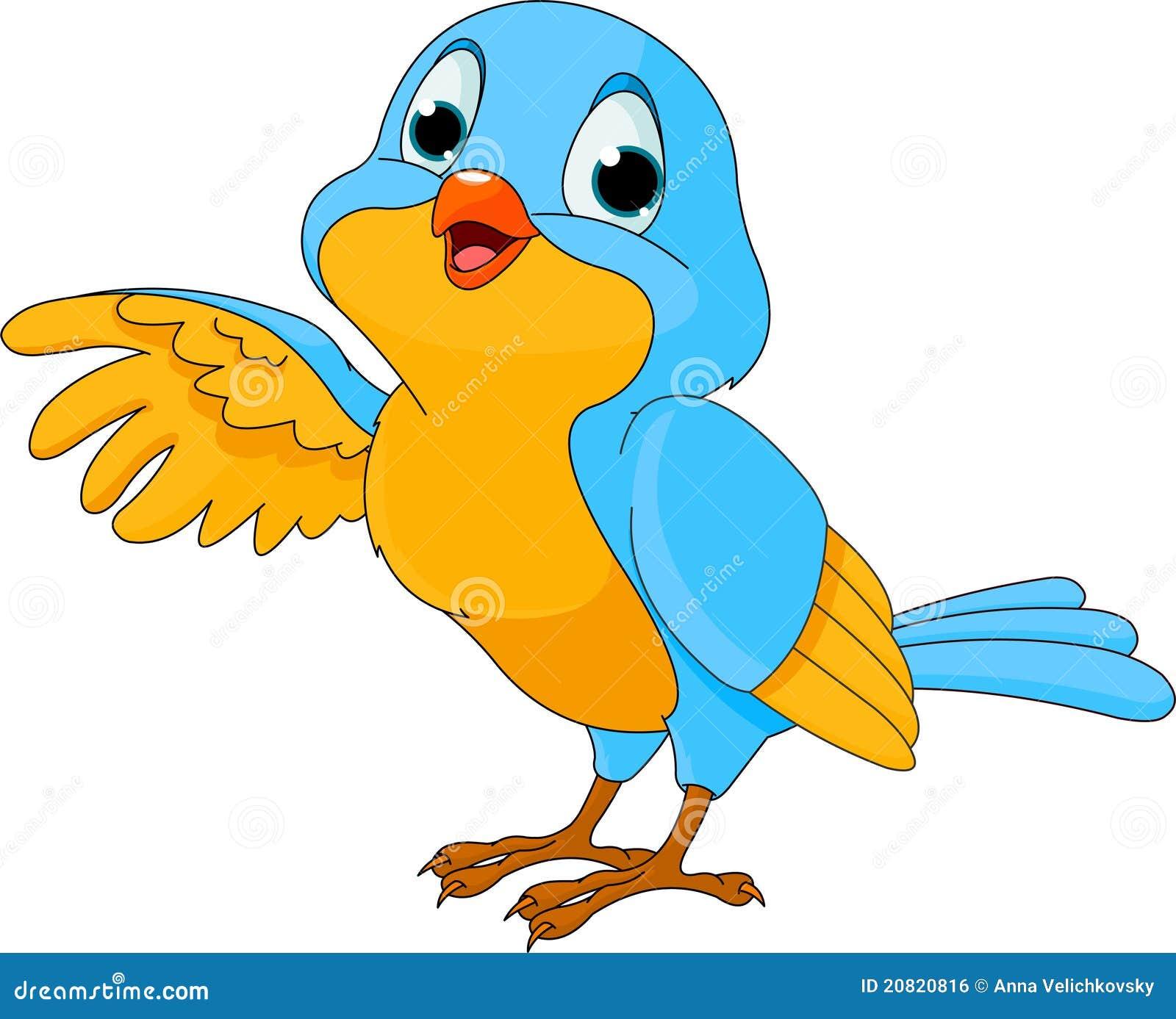 Pássaro Bonito Dos Desenhos Animados Ilustração do Vetor ...