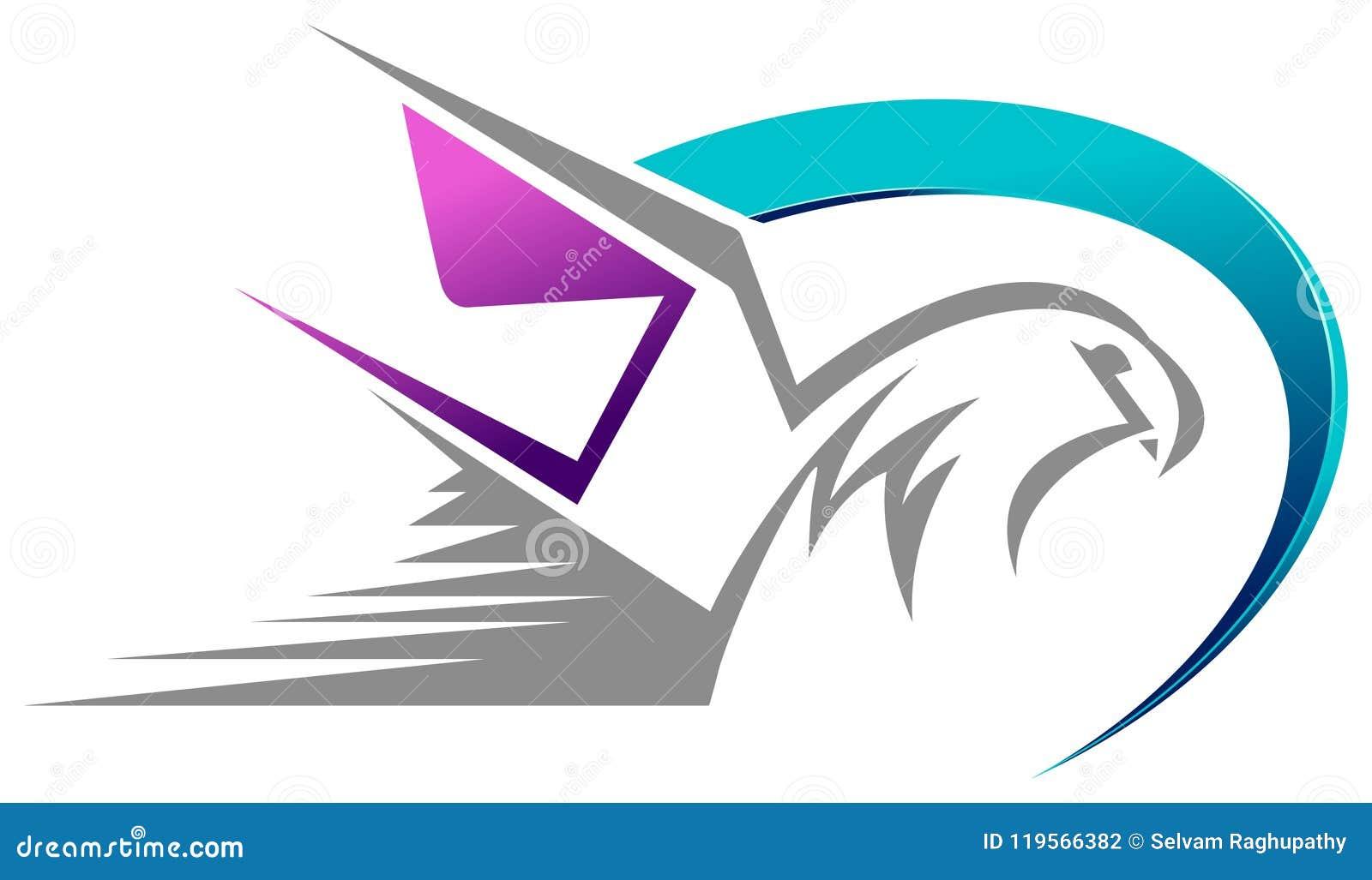 Pássaro com projeto do sumário do correio da velocidade do envelope