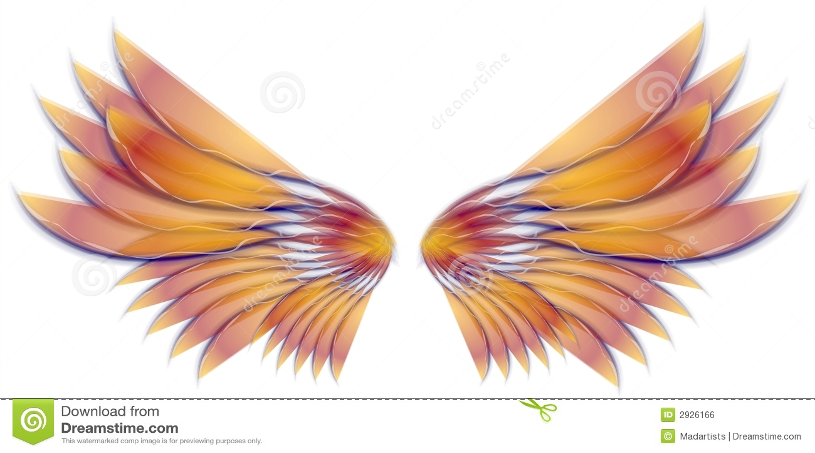 Pássaro do anjo ou ouro das asas do Fairy