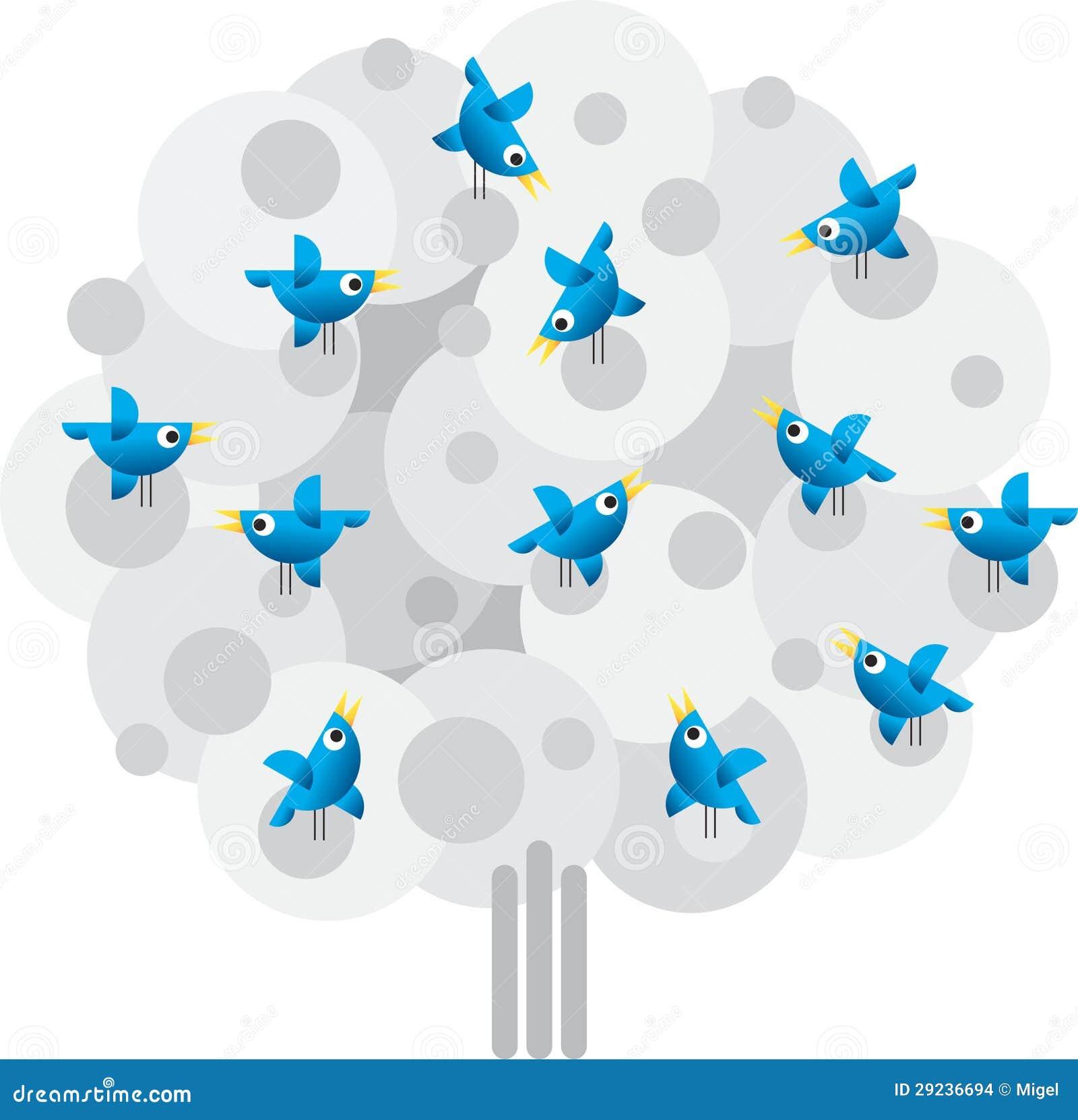 Download Pássaros do Twitter ilustração do vetor. Ilustração de animal - 29236694