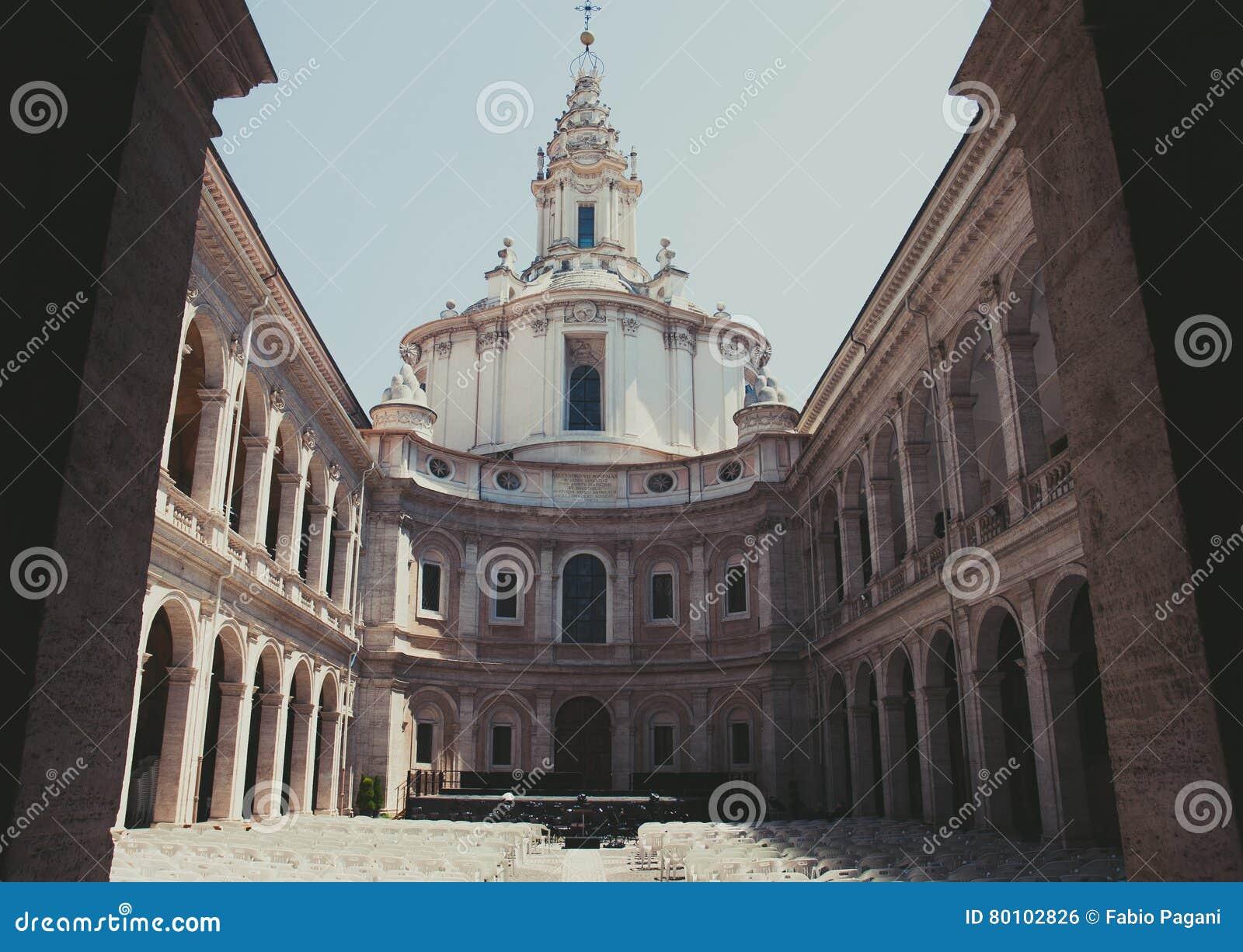 Pátio de Sapienza do alla de Ivo do ` de Sant
