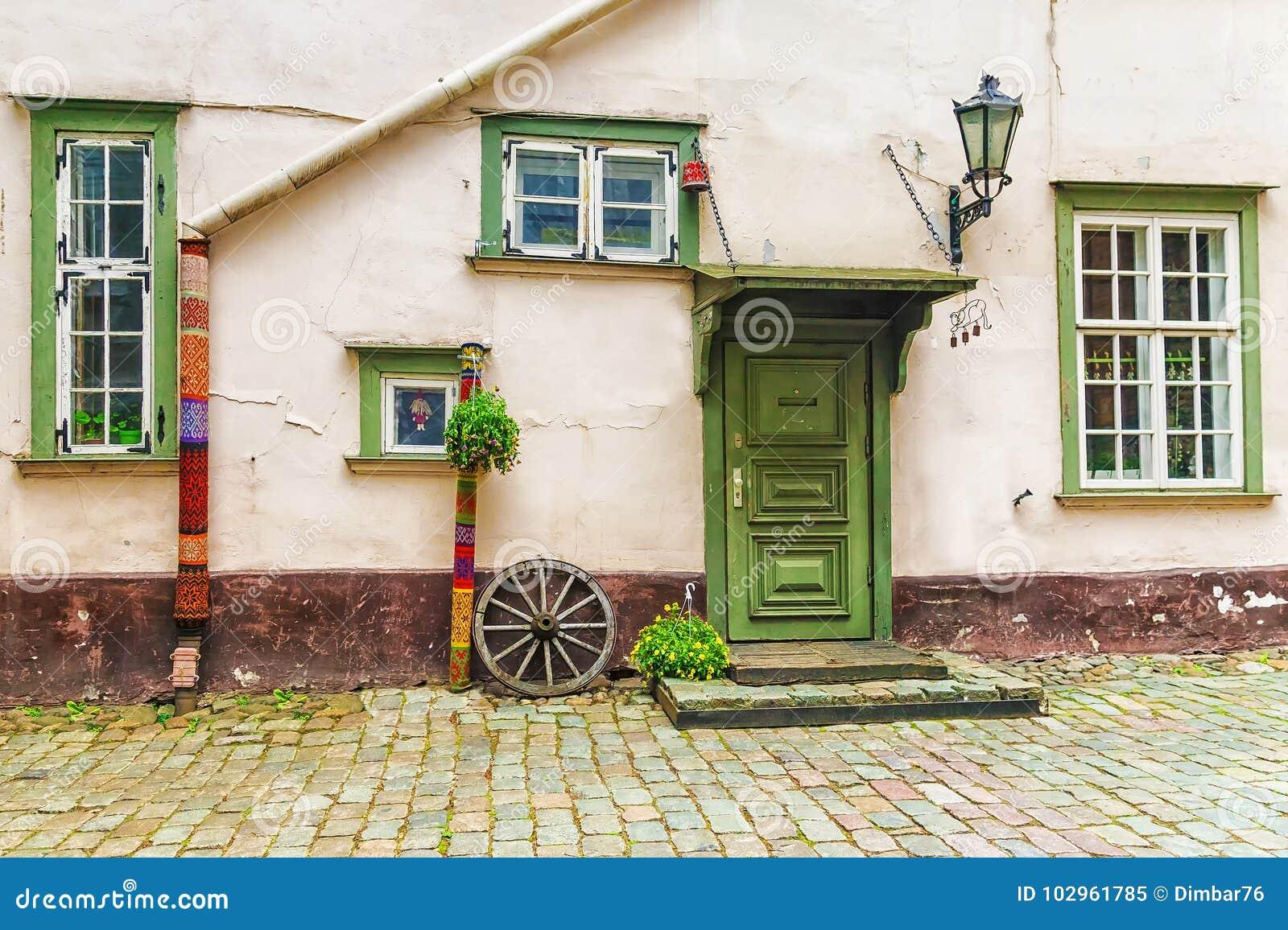 Pátio em Riga velho, Letónia