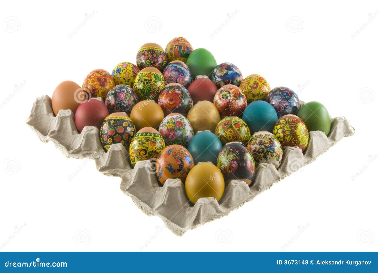 Pâques a peint des oeufs