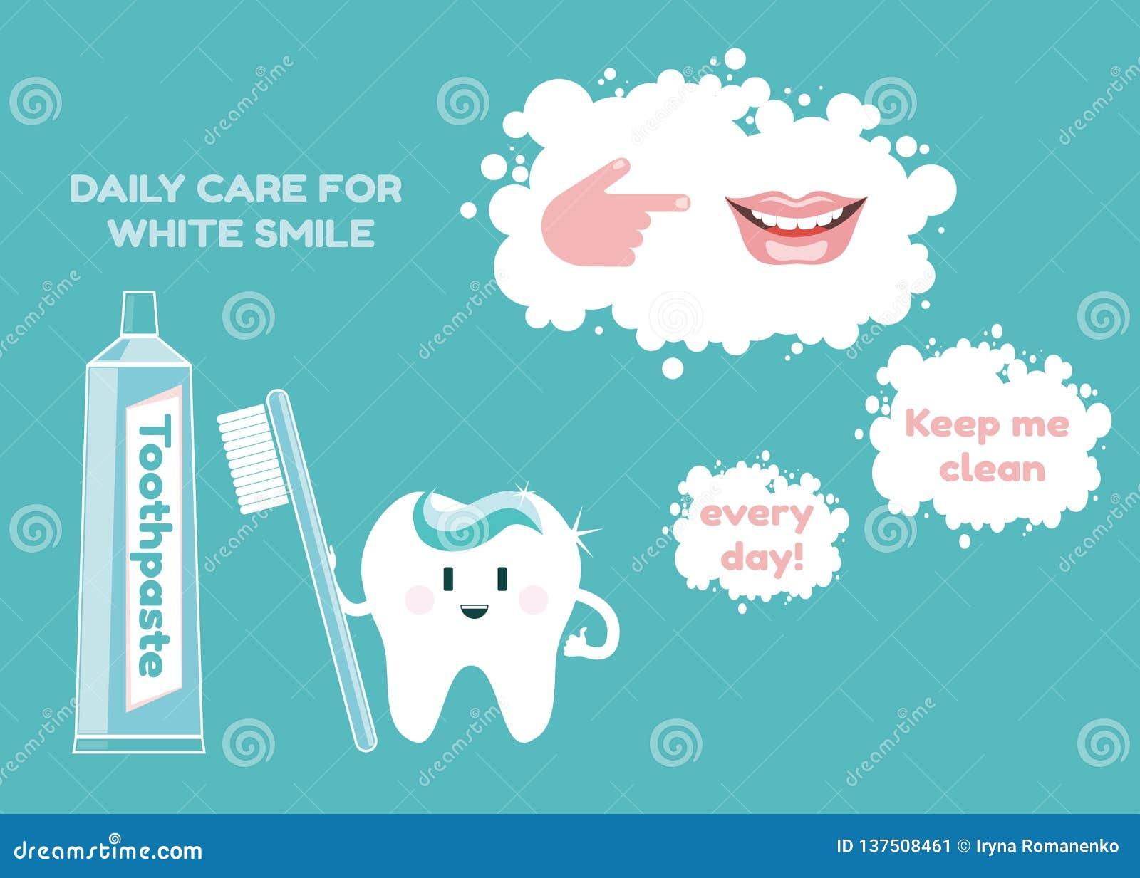 Pâte dentifrice, brosse à dents, sourire blanc comme neige et