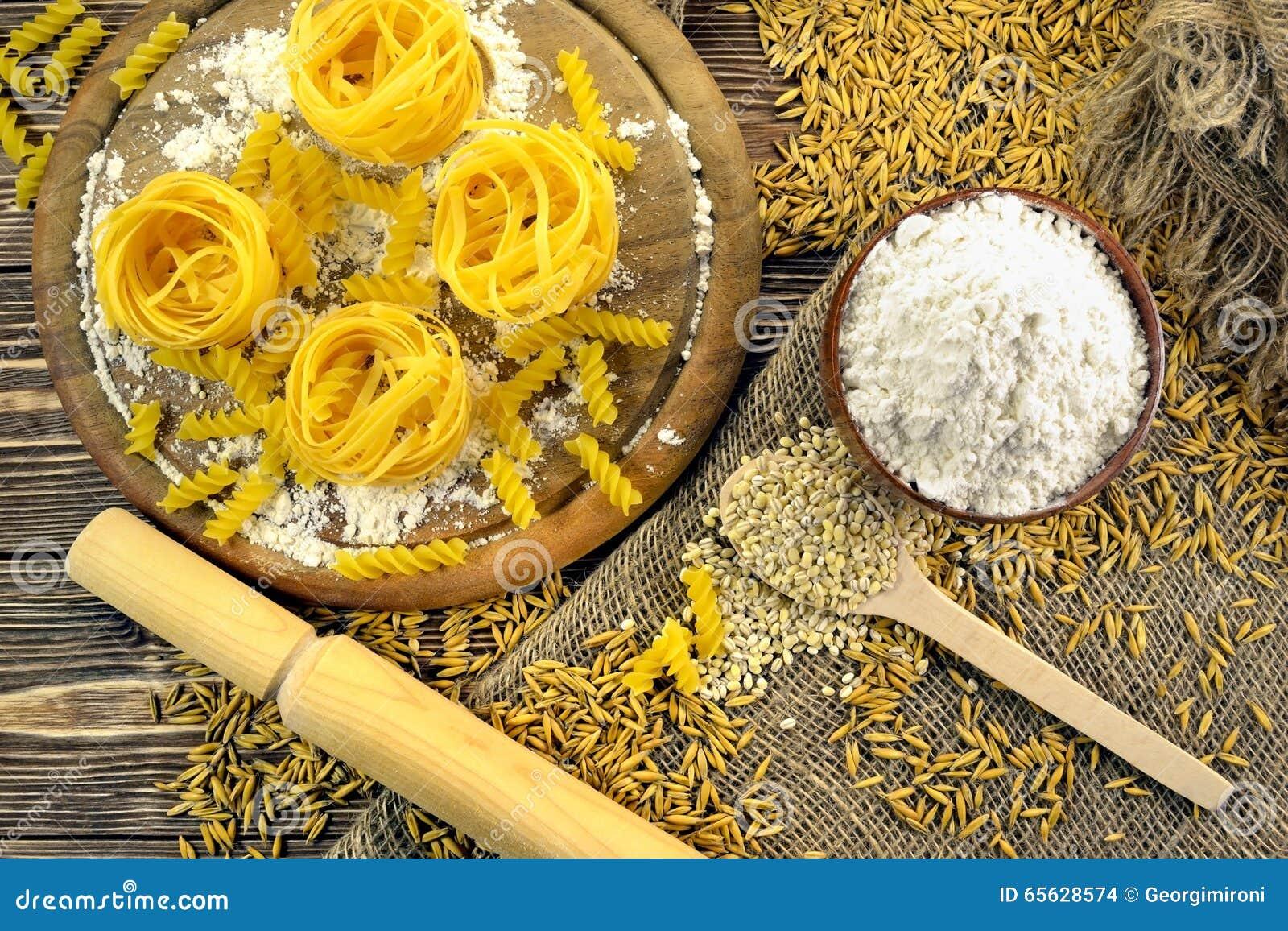 Pâtes et grain