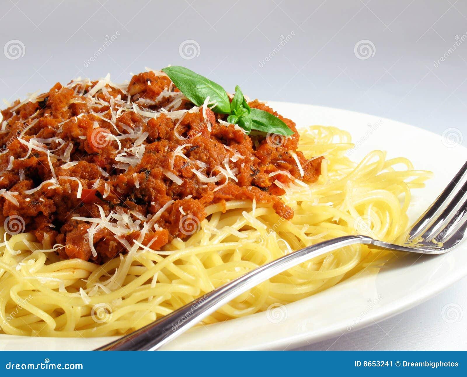 Pâtes et sauce de spaghetti
