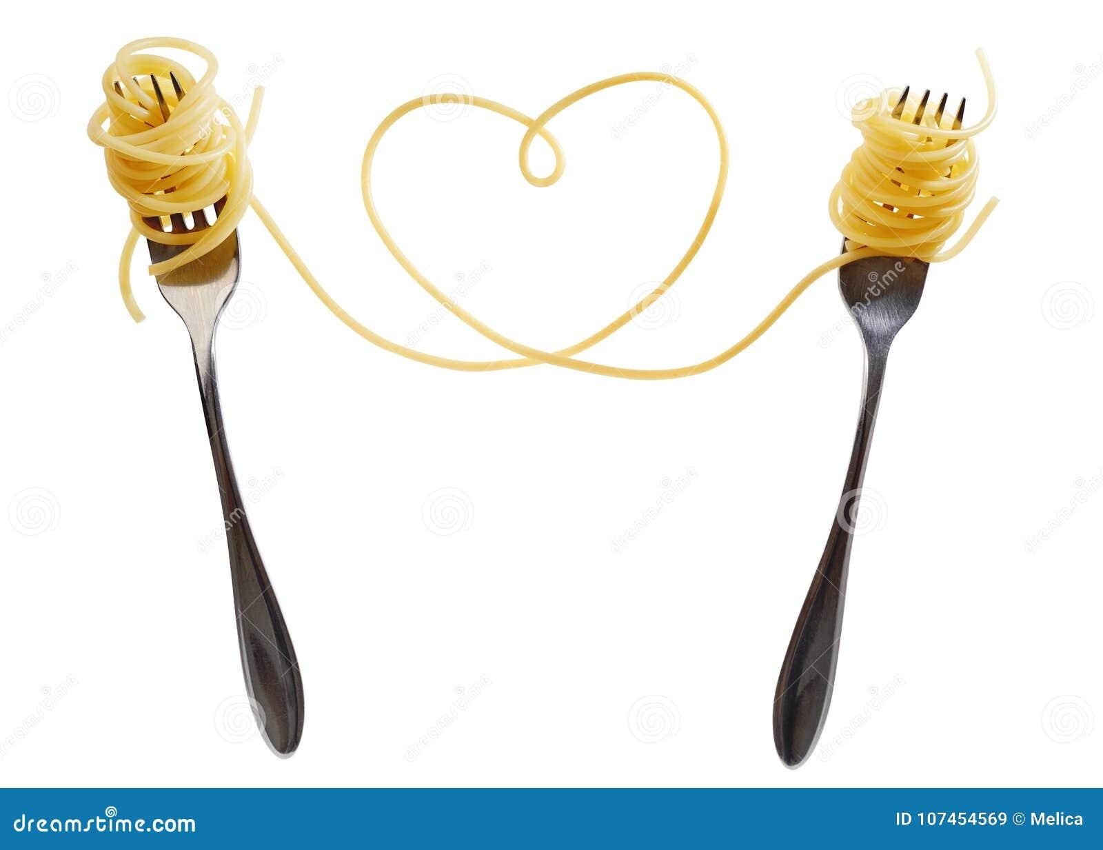 Pâtes sur la fourchette