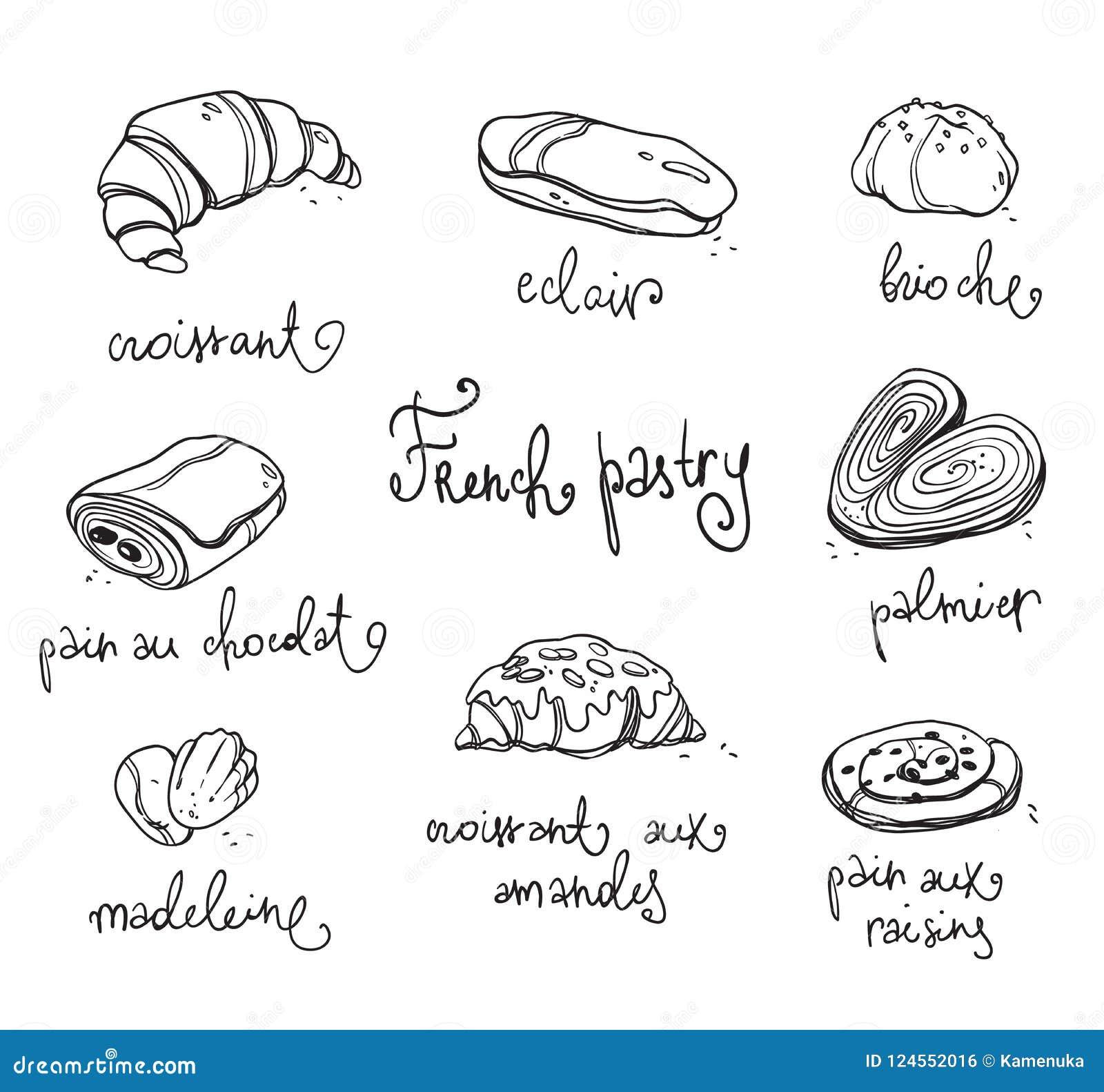 Pâtisserie Française Desserts Cuits Au Four Traditionnels