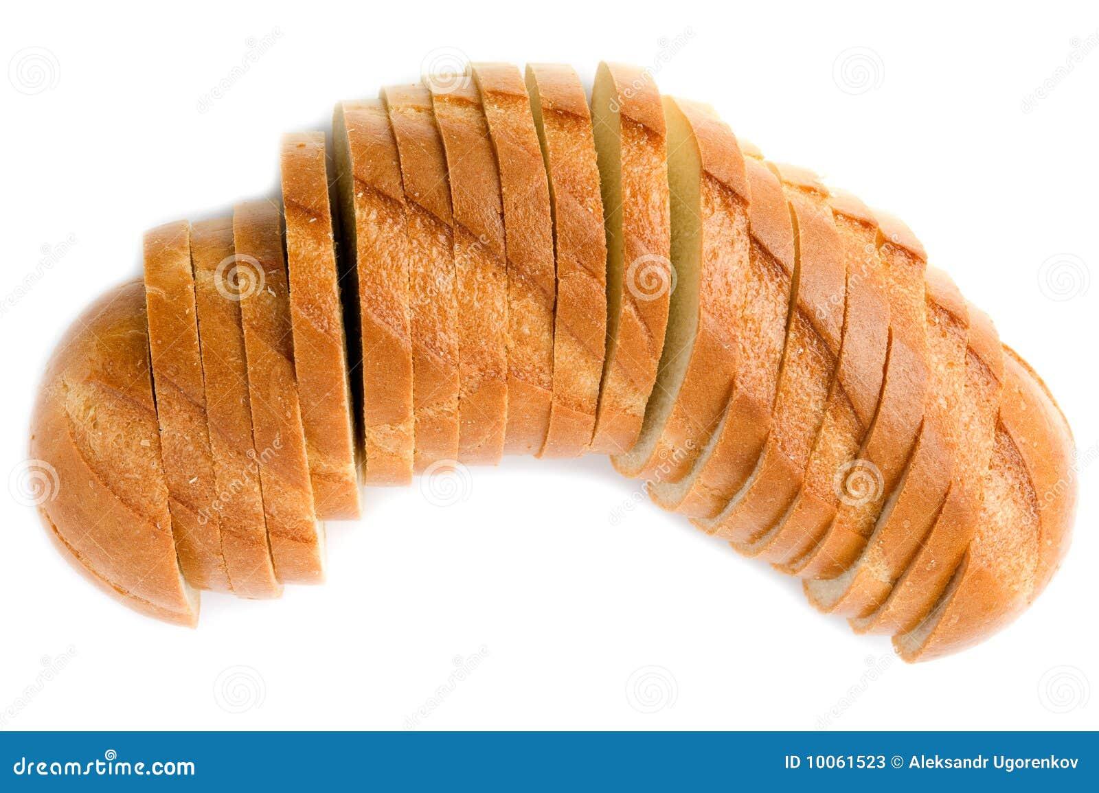 Pão branco no branco