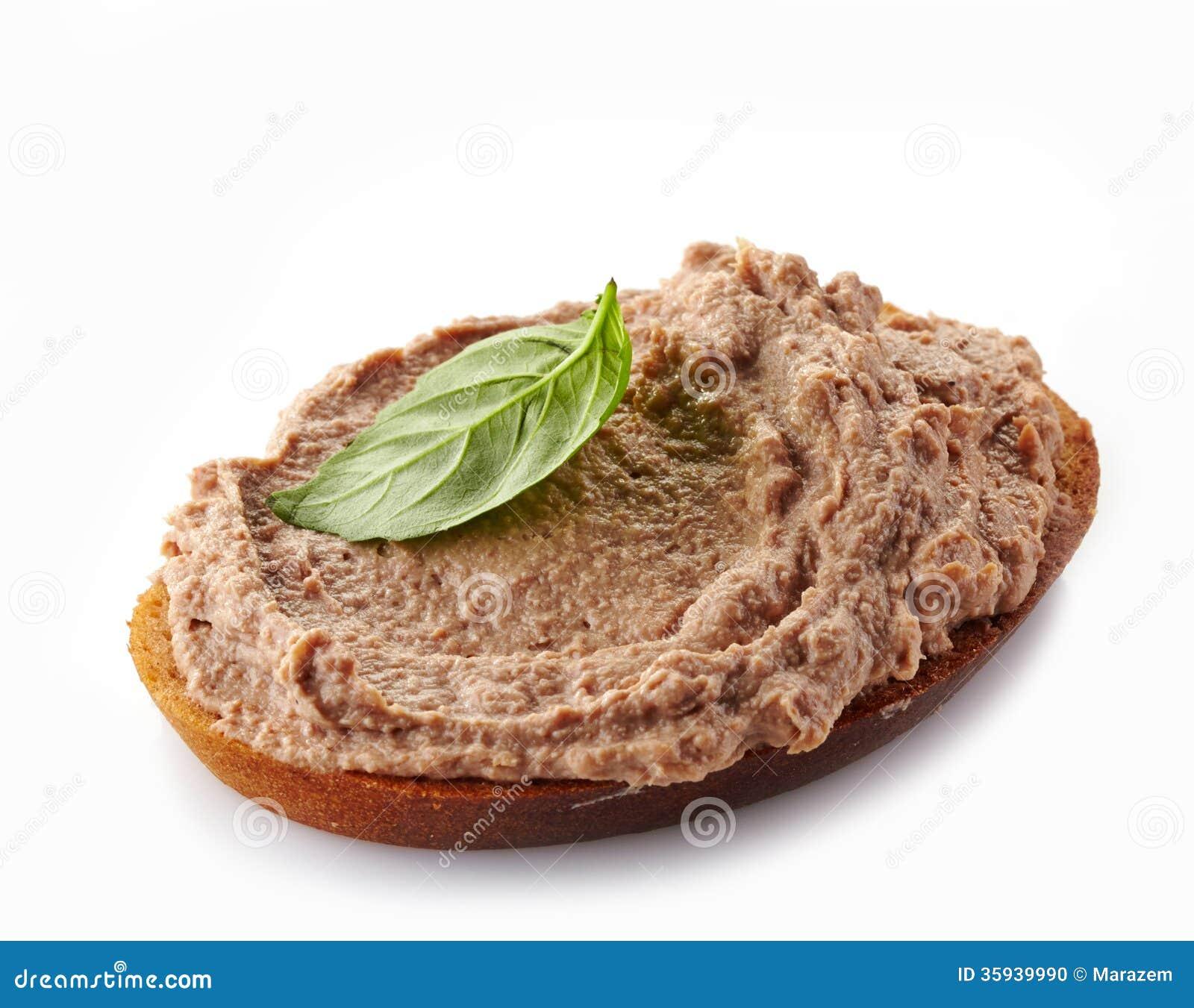 Pão com pasta de fígado