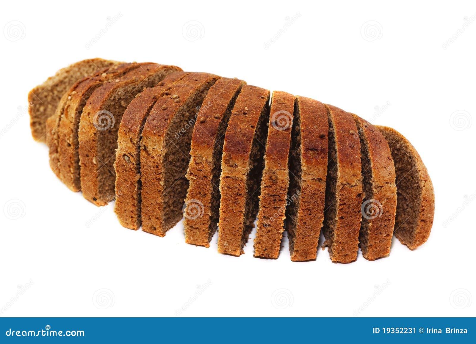 Pão cortado preto