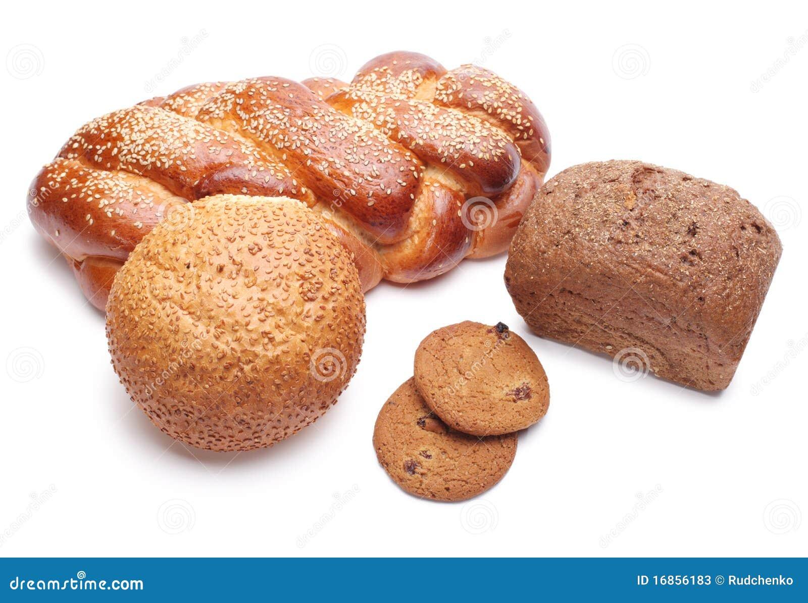 Pão cozido isolado