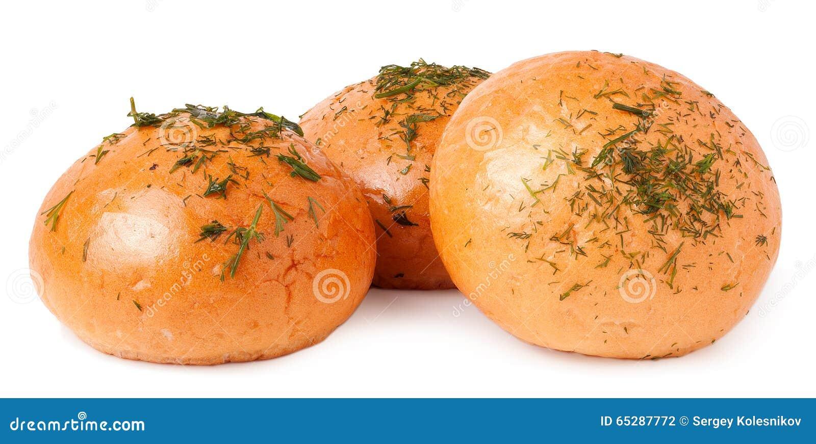 Pão de alho isolado no branco