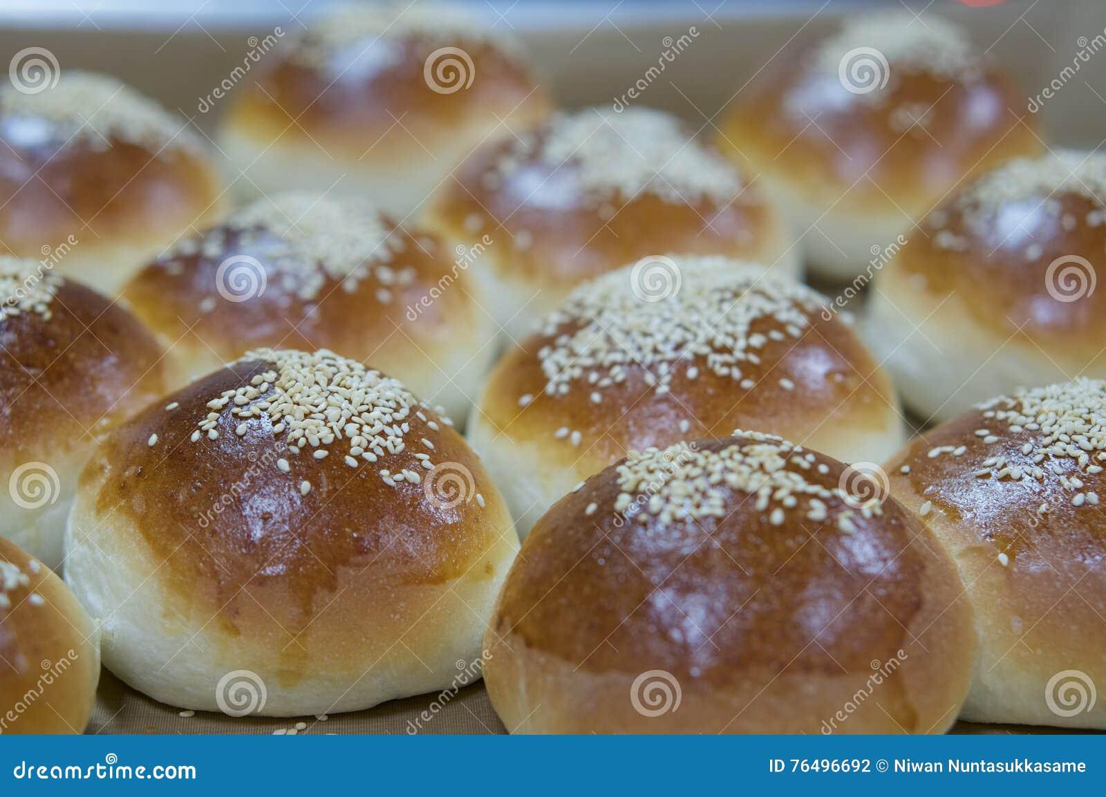 Pão delicioso com sésamo