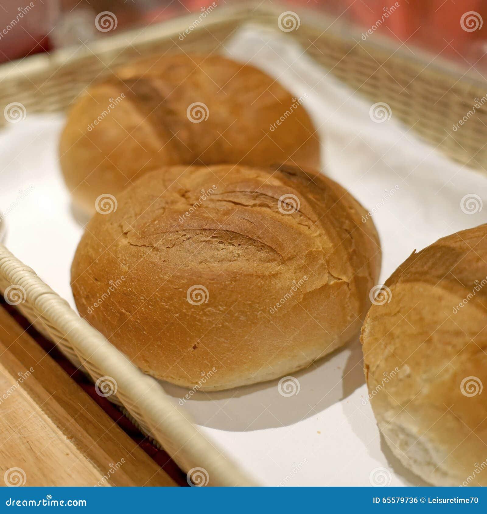Pão do rolo macio para a refeição do café da manhã