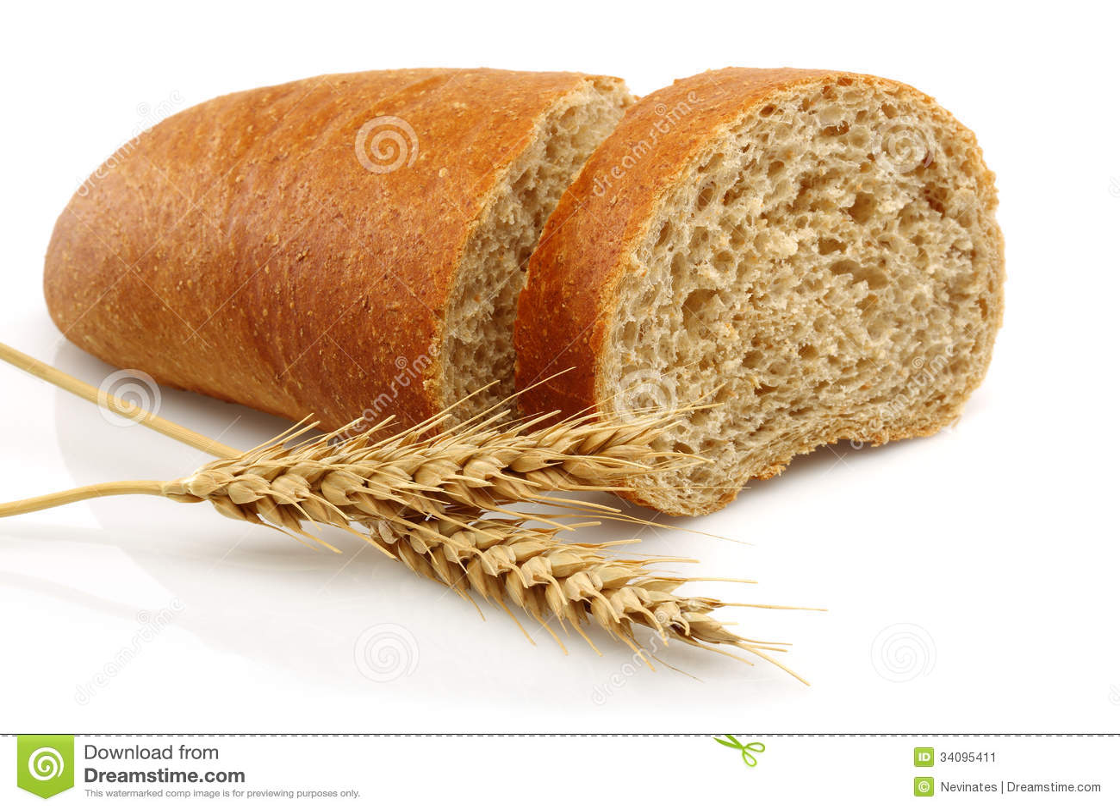 Pão integral e trigo