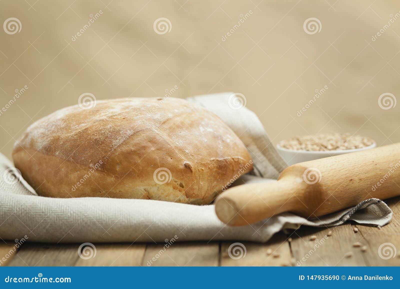 Pão luxúria em uma toalha