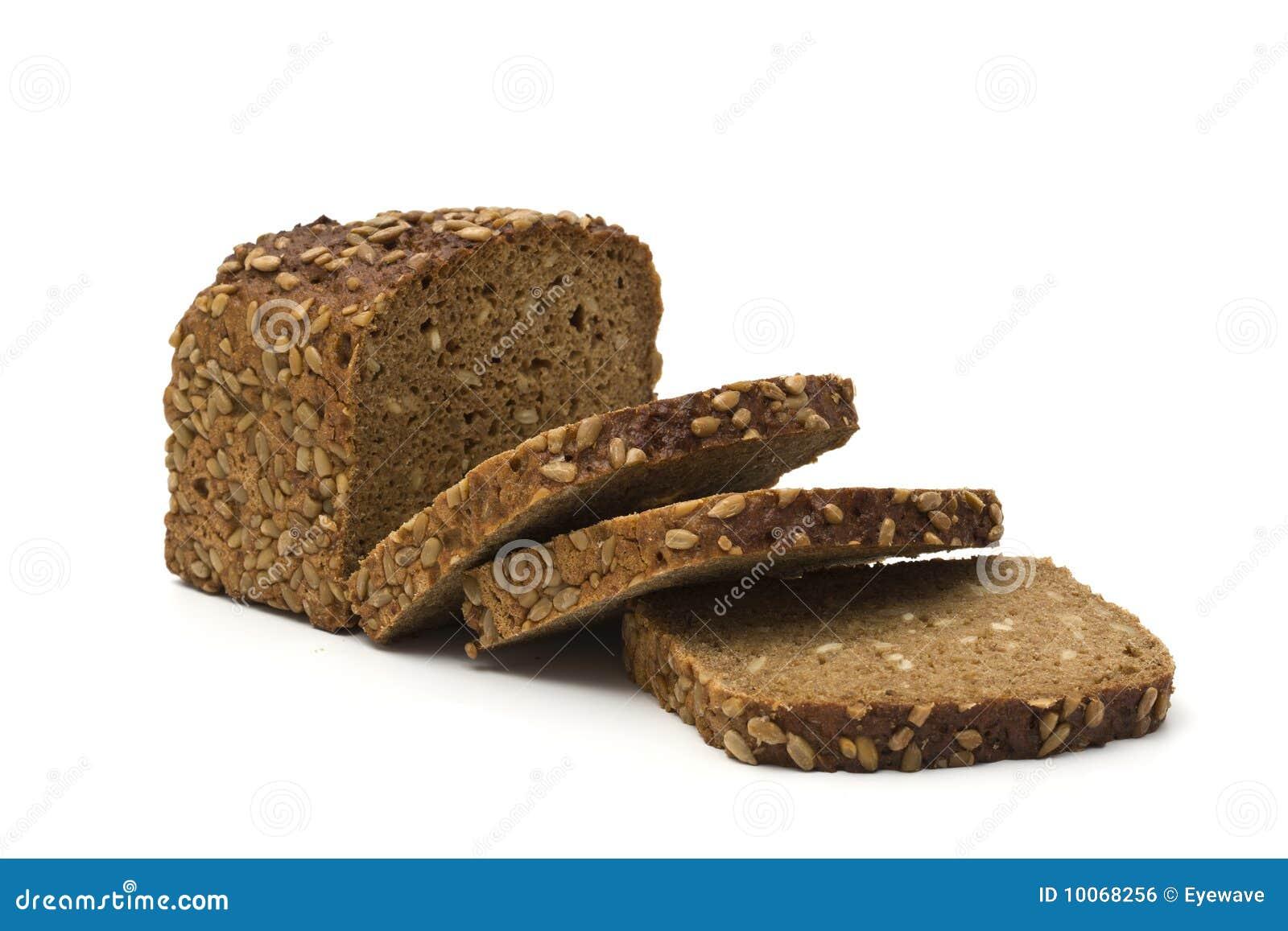 Pão marrom da grão inteira