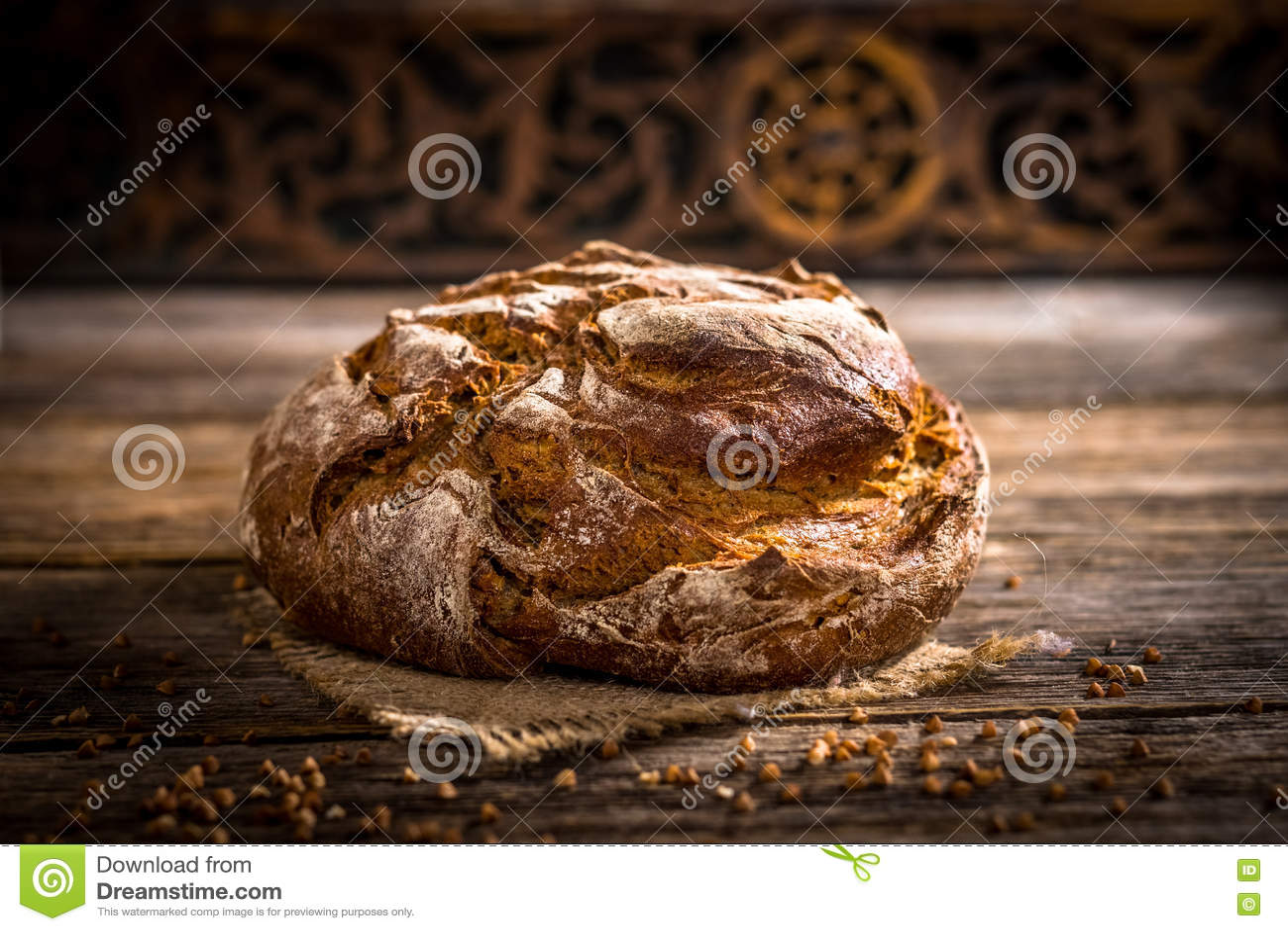 Pão recentemente cozido