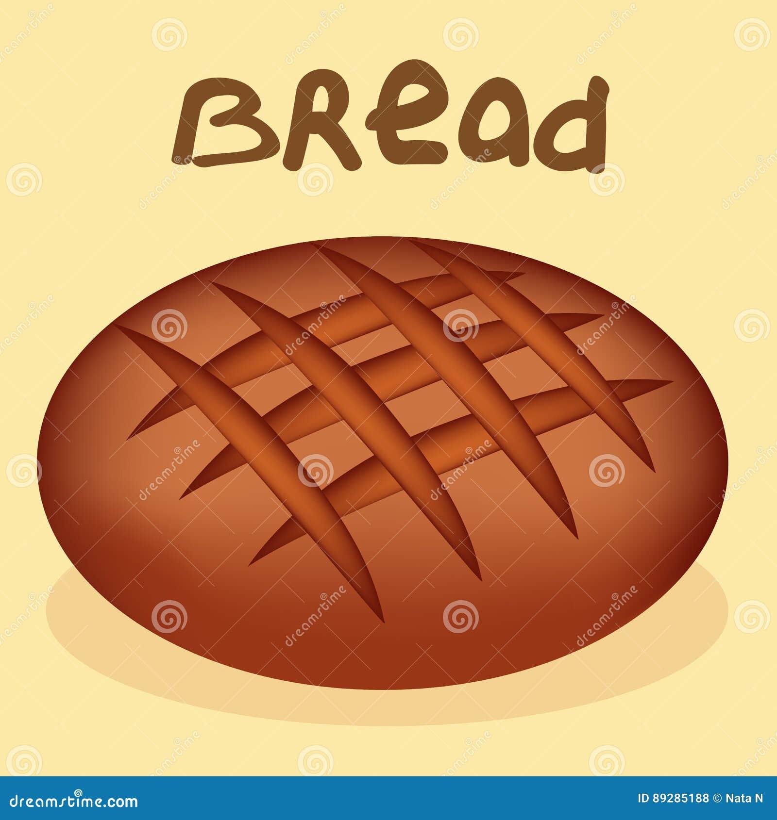 Pão recentemente cozido no fundo branco