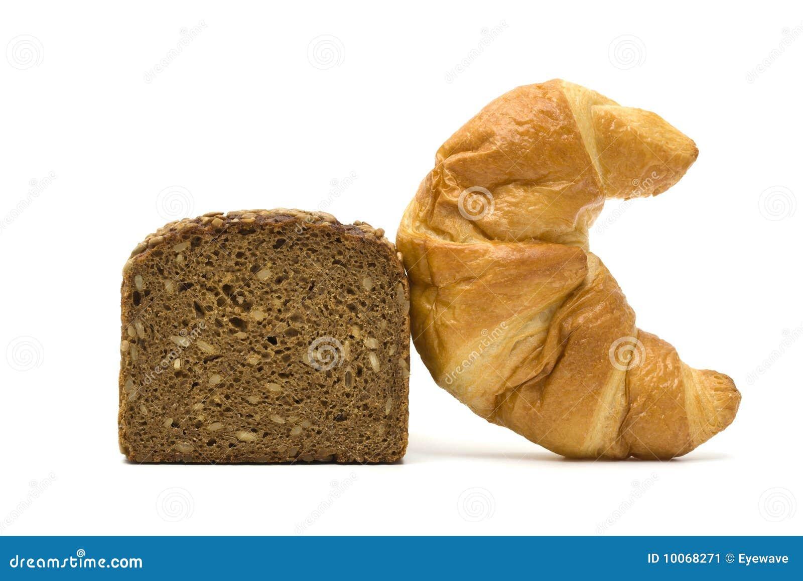 Pão saudável e insalubre