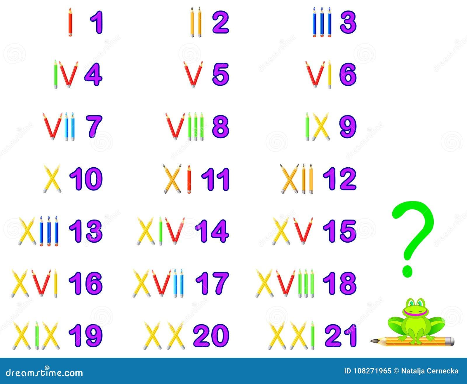 Pädagogische Seite, Damit Kinder Römische Zahlen Studieren Sich ...