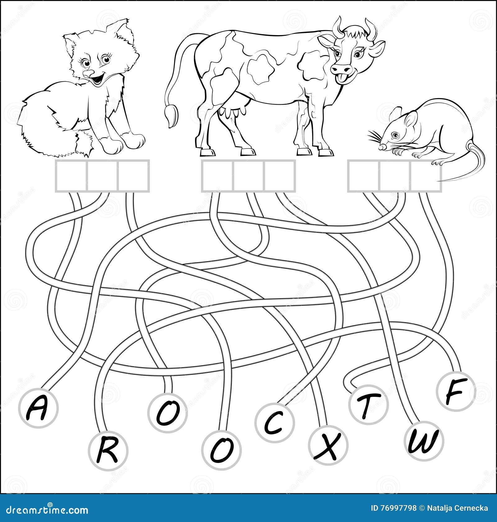 Pädagogische Seite Für Kinder Mit Übungen Für Studie Englischwörter ...