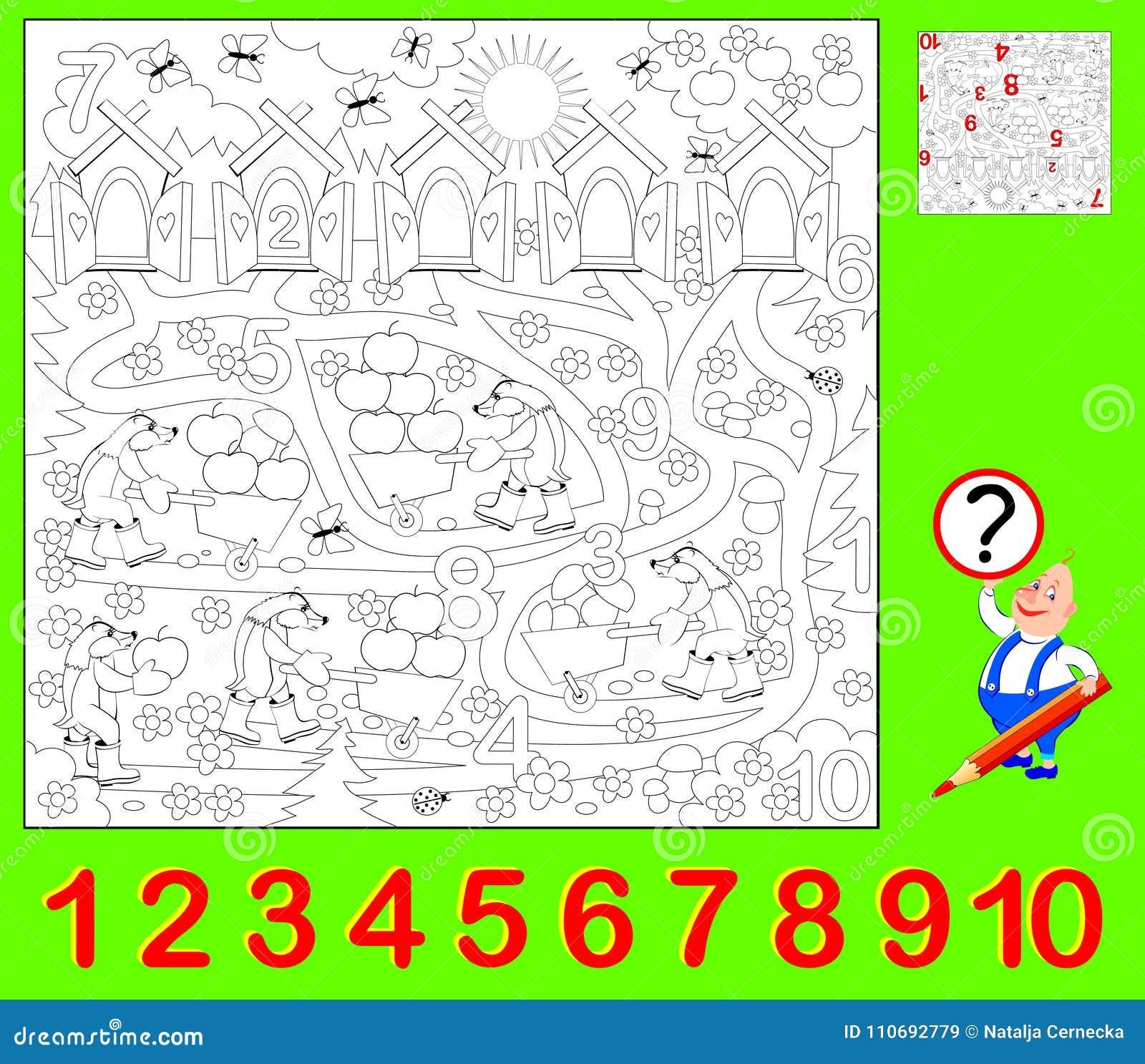 Pädagogische Seite Für Kleinkinder Müssen Sie Die Versteckten Zahlen ...