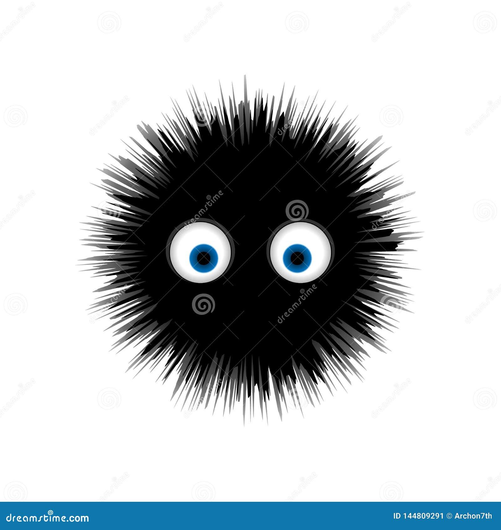 P?ls- monster, f?r teckenvektor f?r rund tecknad film taggig illustration
