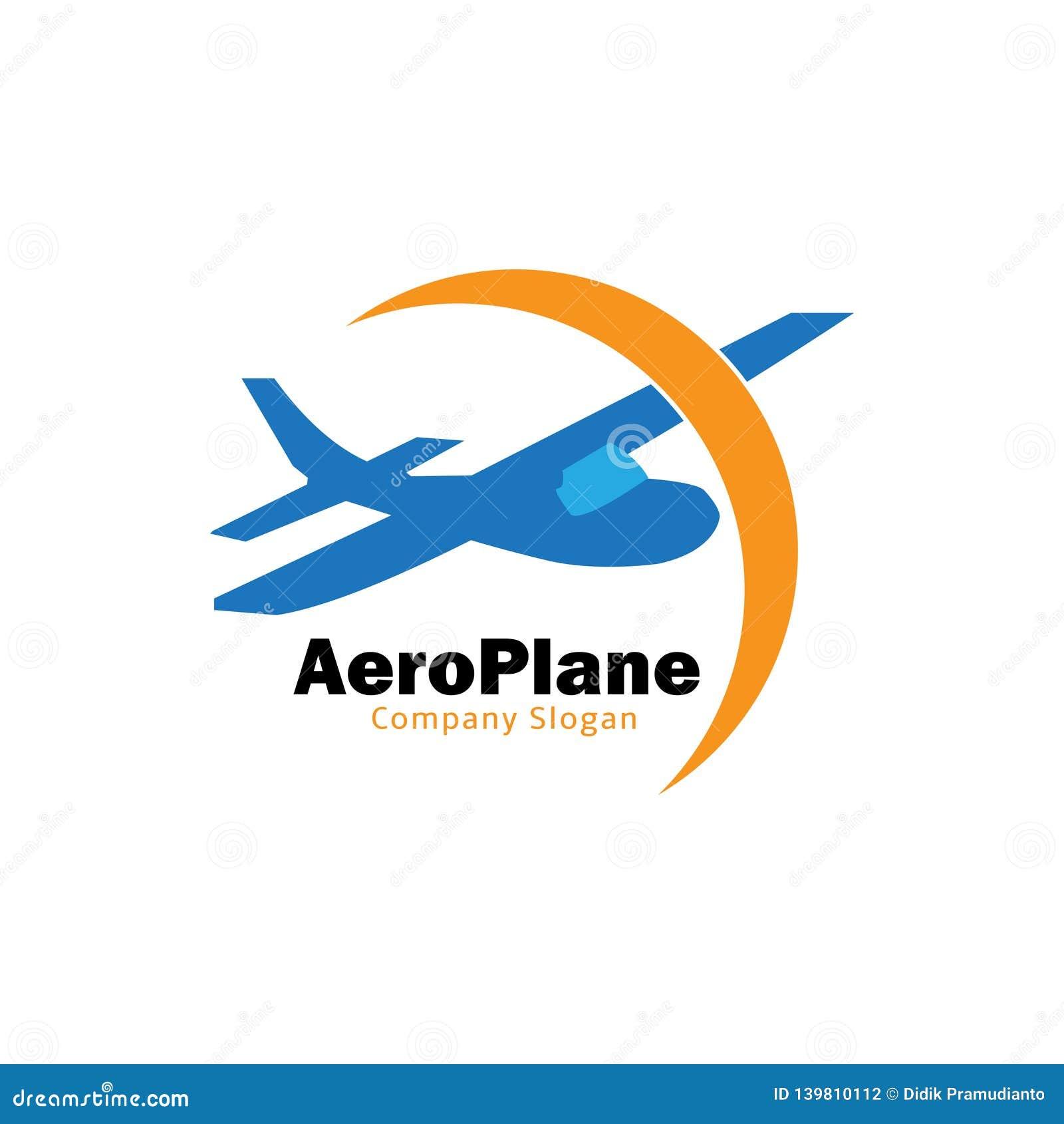 Płaski świetlicowy logo dla samolotu klubu