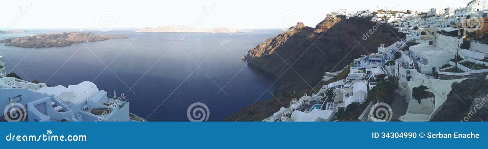 By på den Santorini ön