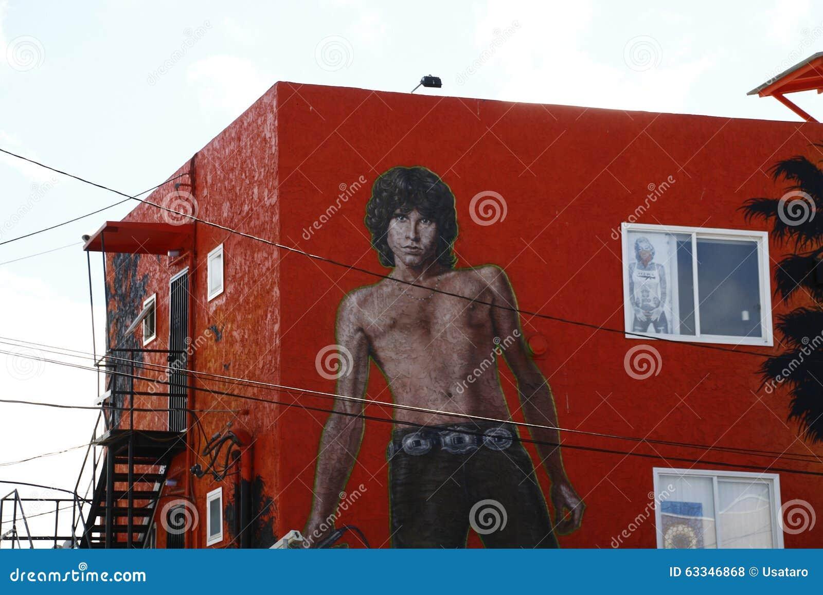 På Jim Morrison Wall Mural