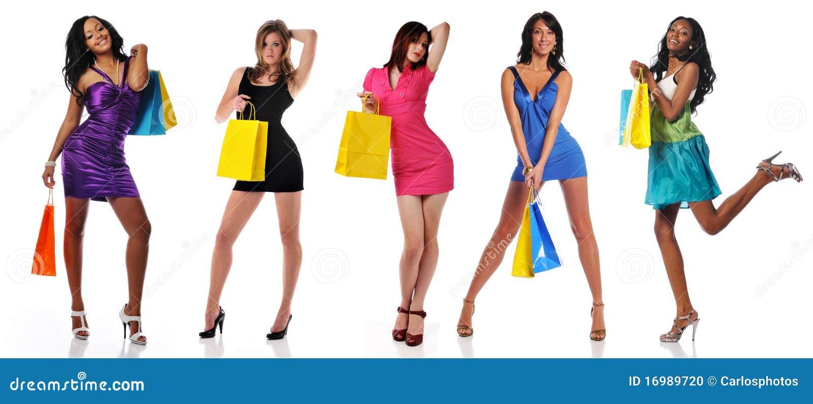 Påsar som shoppar kvinnor