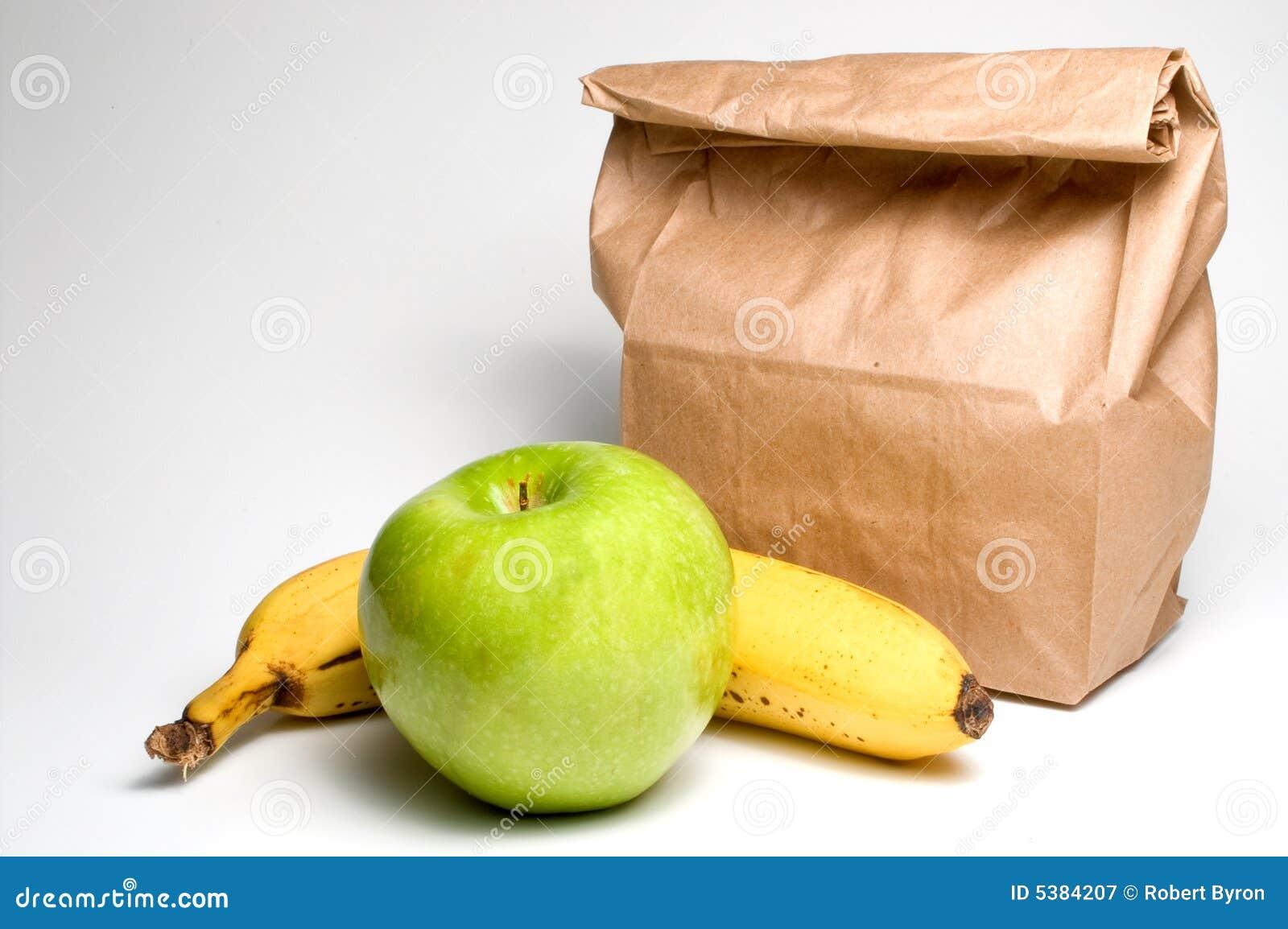 Påselunch med frukt