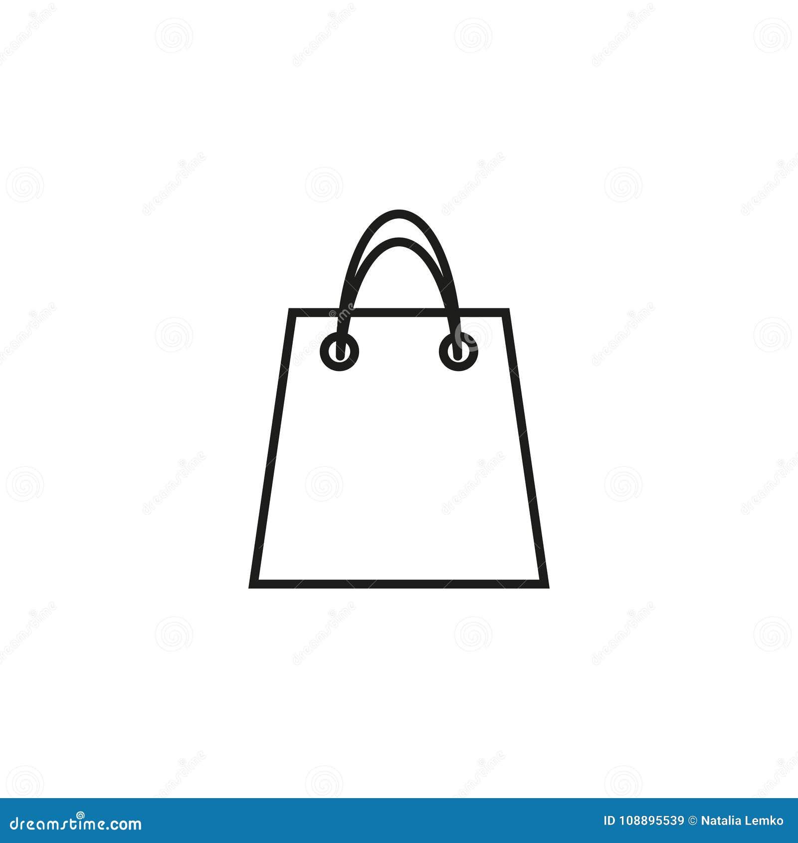 Påsen av shoppar symbolen