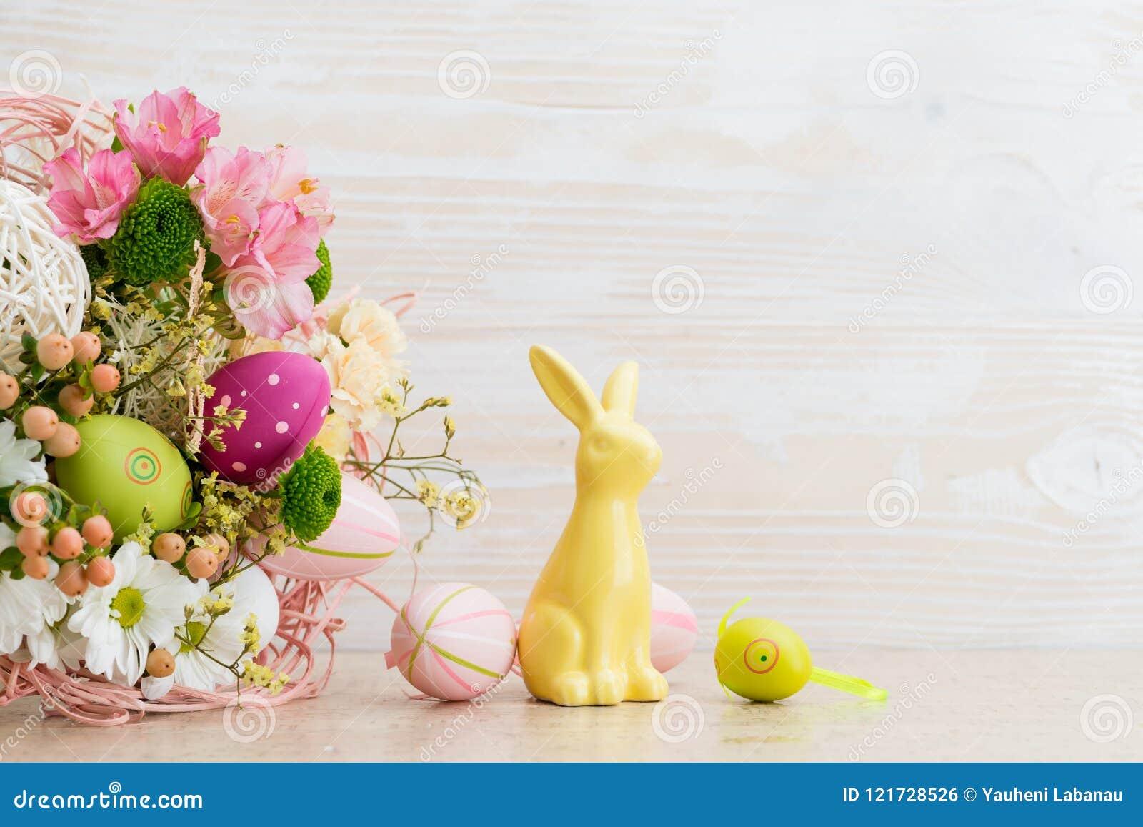 Påskhälsningkort av nya blommor