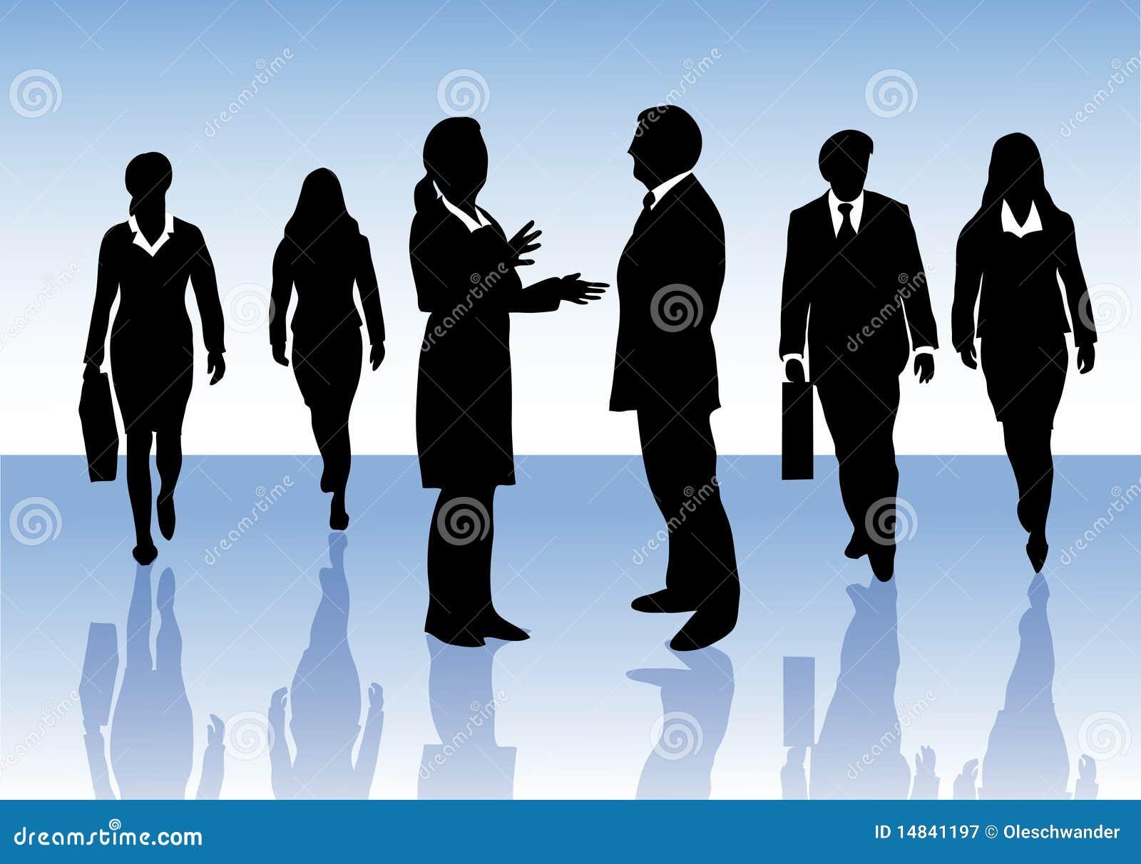 Påverkande varandra folk för affärsgrupp