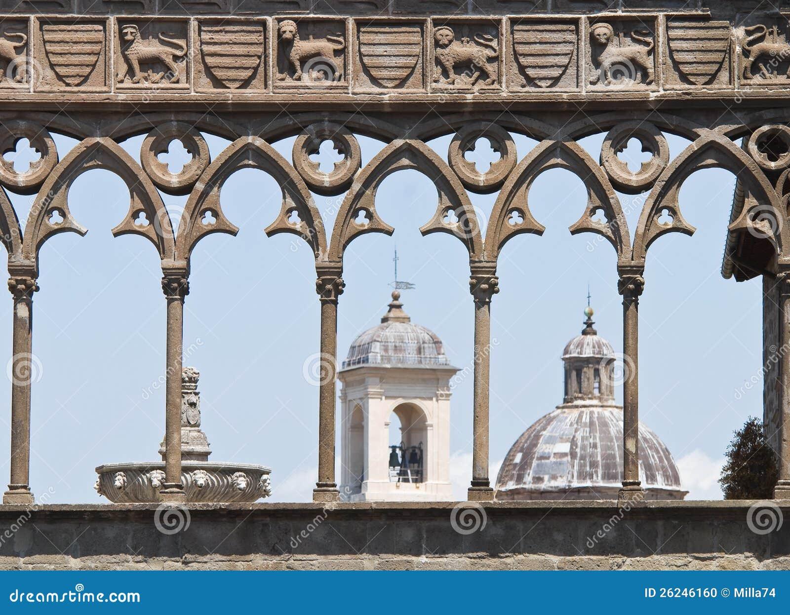 Påvlig slott. Viterbo. Lazio. Italien.