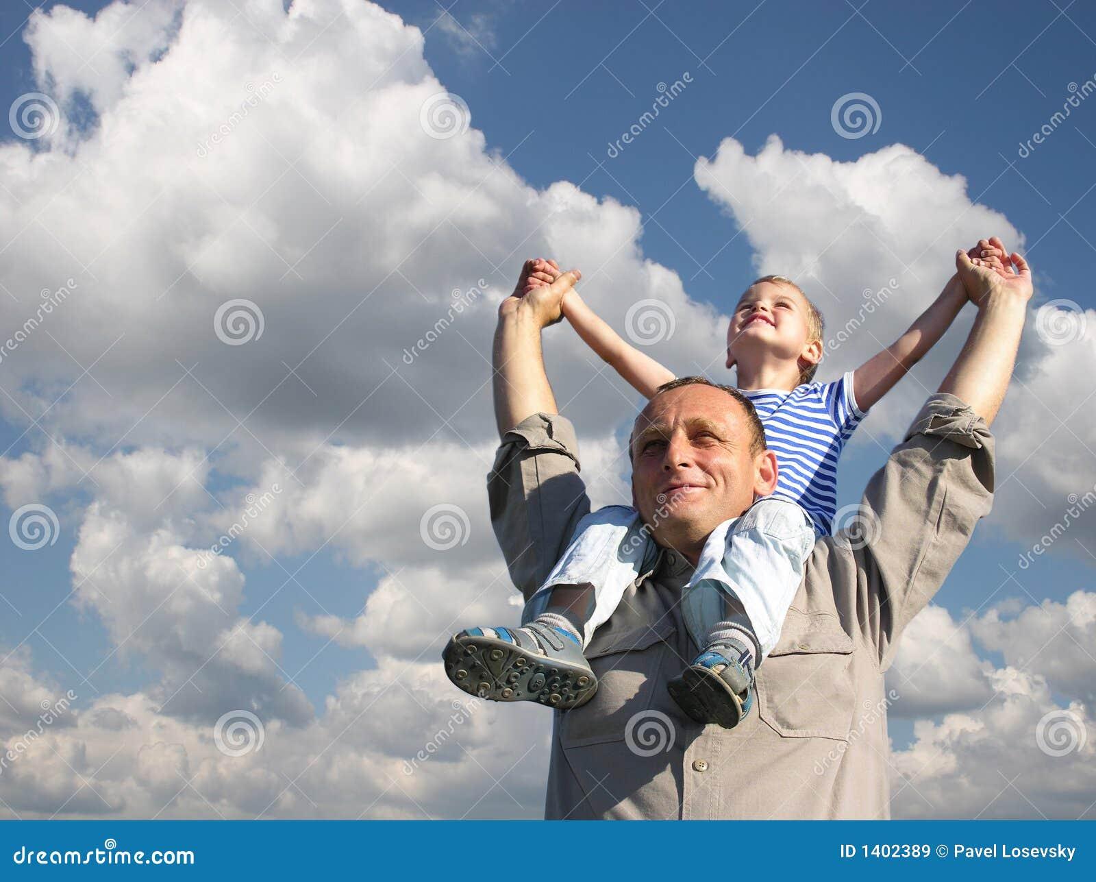 Père avec le fils