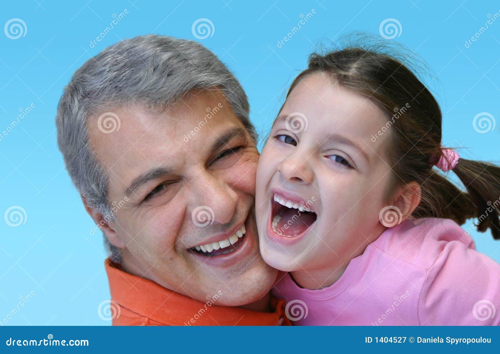 Père et descendant heureux
