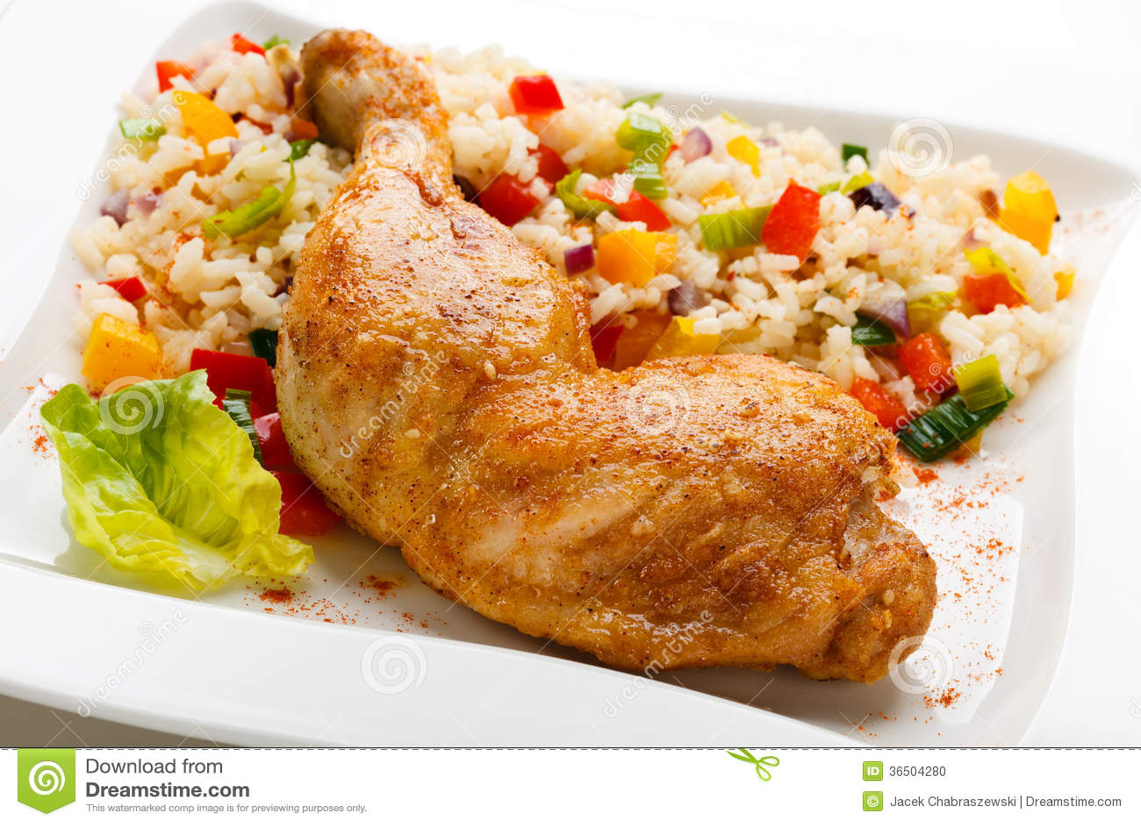 Pé de frango assado