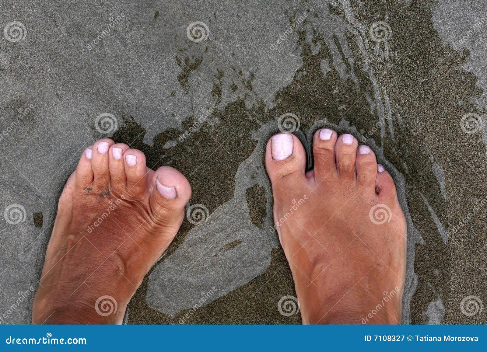 Queimados sol pés de