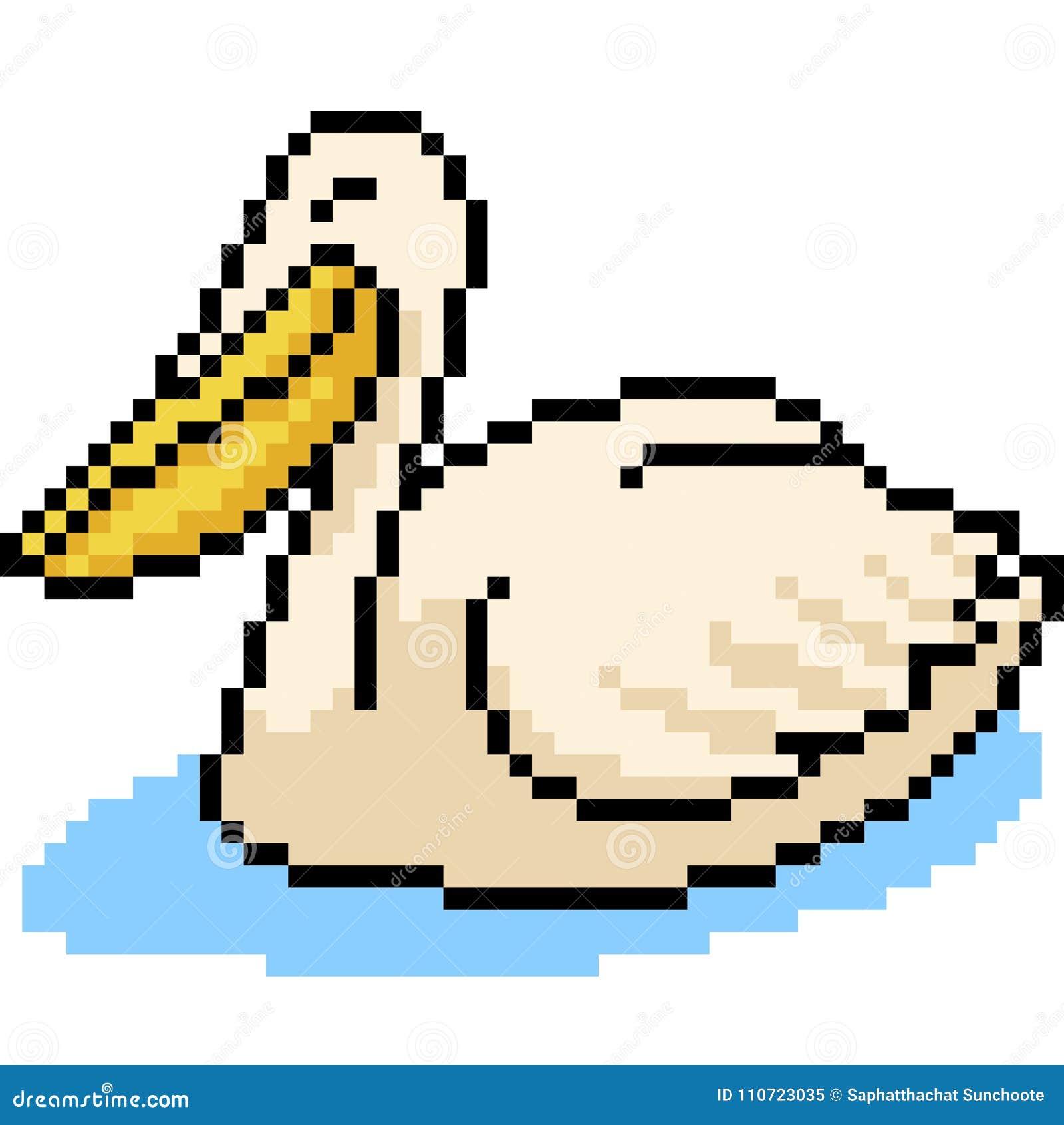 Pélican Danimal Dart De Pixel De Vecteur Illustration De