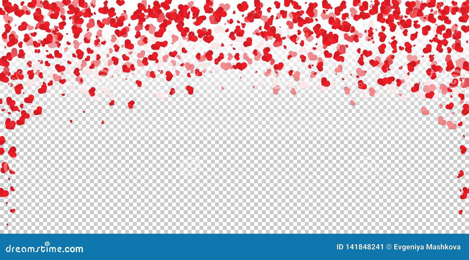 Pétala da flor na forma de confetes do coração