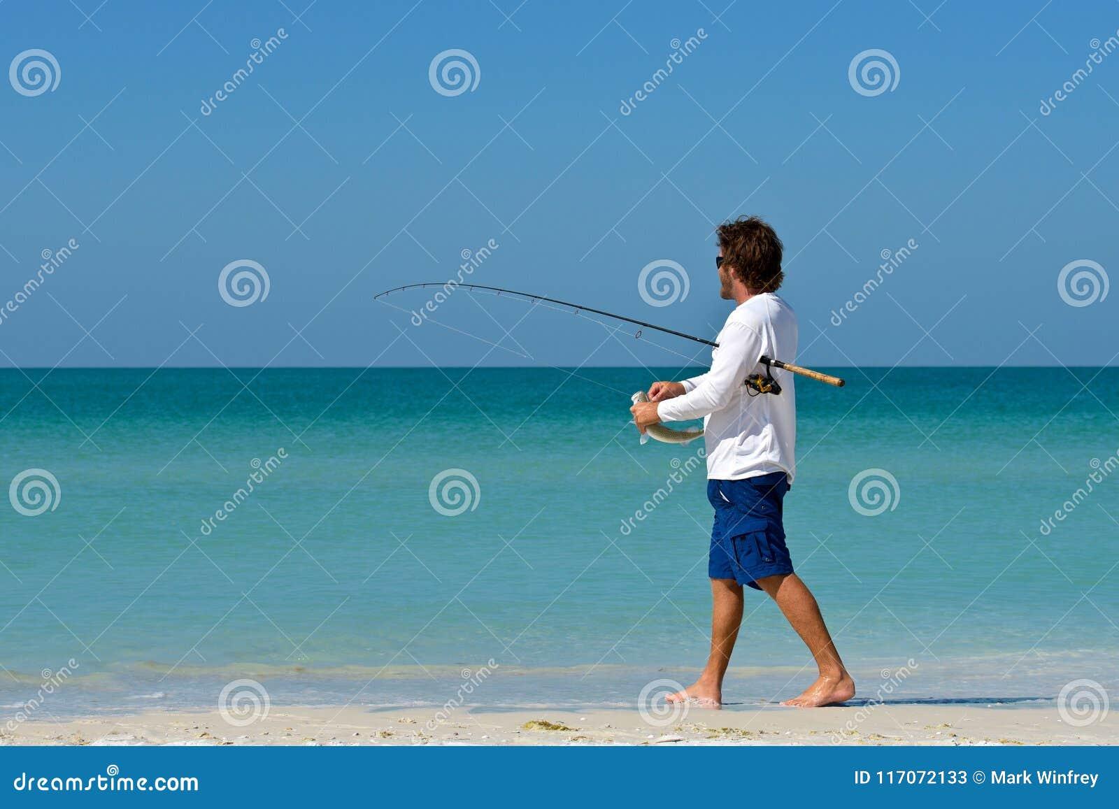 Pêche de jeune homme