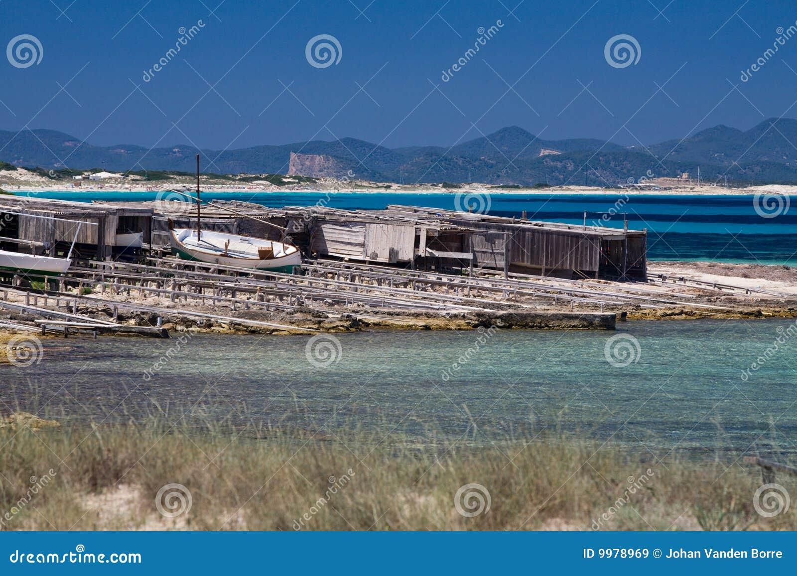 Pêche formentera de dock de bateaux