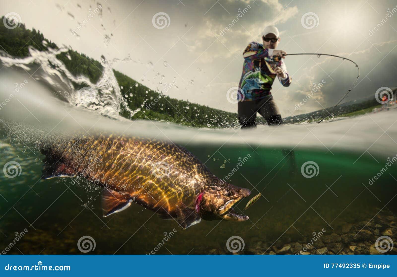 Pêche Pêcheur et truite
