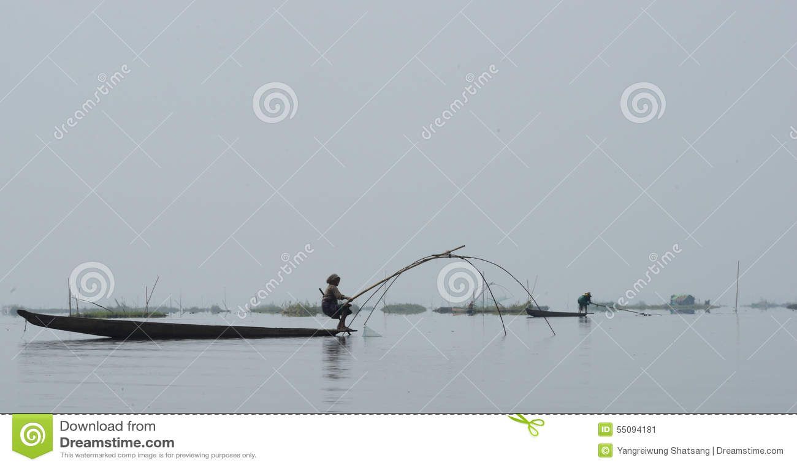 Pêche traditionnelle au lac Loktak