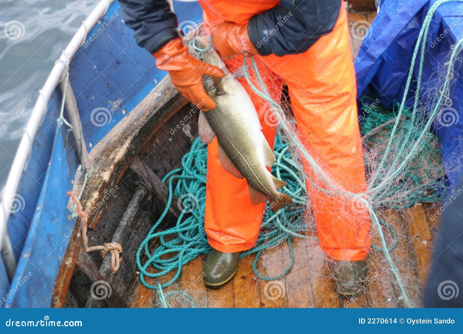 Pêcheur au travail